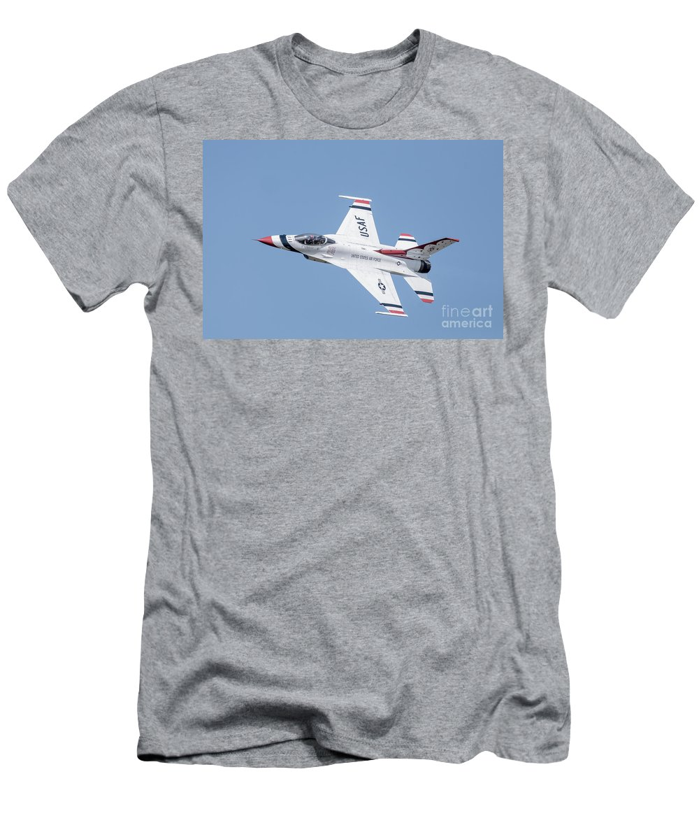 Hunderbirds Men's T-Shirt (Athletic Fit) featuring the photograph Thunderbird by Amel Dizdarevic