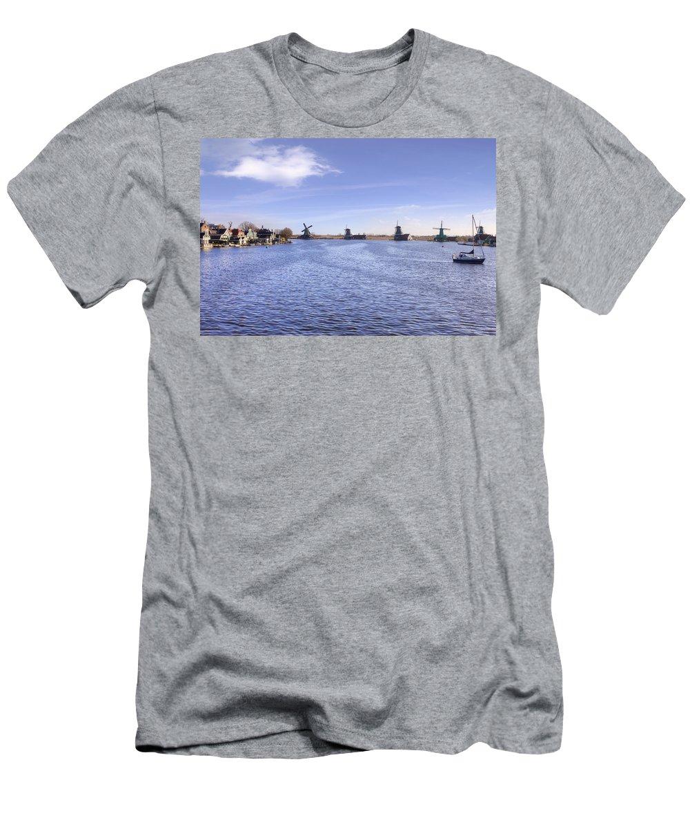 Zaanse Schans Men's T-Shirt (Athletic Fit) featuring the photograph Zaanse Schans by Joana Kruse
