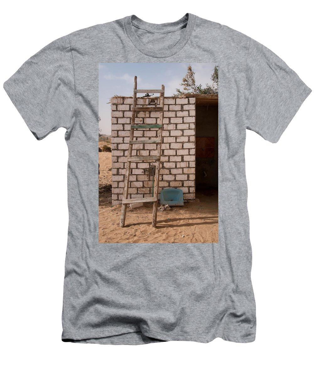 Egypt Desert Men's T-Shirt (Athletic Fit) featuring the digital art White Desert by Carol Ailles