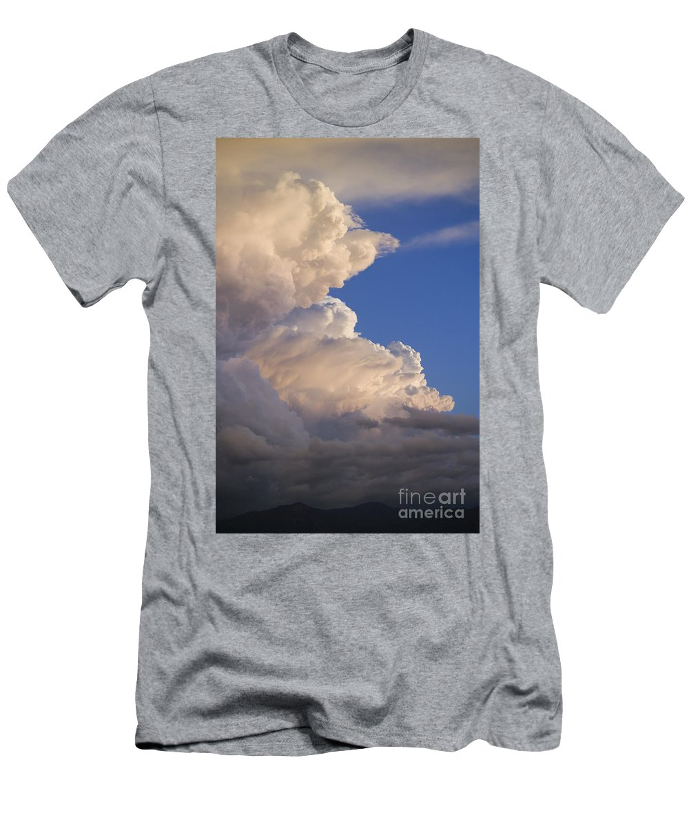 Sky Men's T-Shirt (Athletic Fit) featuring the photograph Clouds by John Shaw