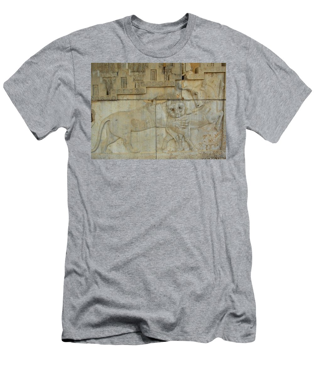 Iran Men's T-Shirt (Athletic Fit) featuring the photograph Iran Persepolis by Lois Ivancin Tavaf
