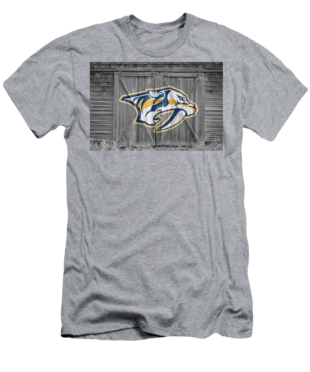 Predators Men's T-Shirt (Athletic Fit) featuring the photograph Nashville Predators by Joe Hamilton