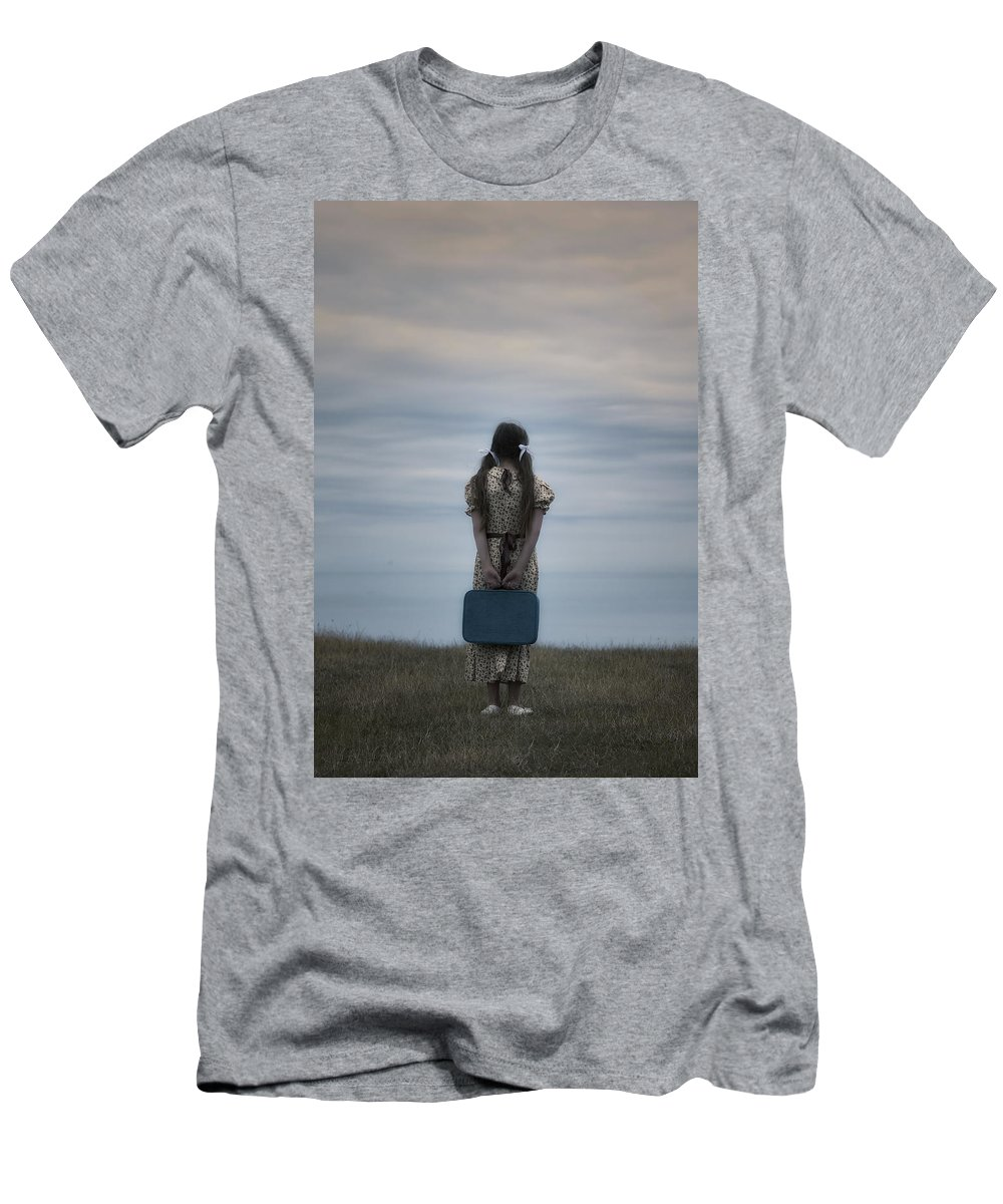 Girl Men's T-Shirt (Athletic Fit) featuring the photograph Refugee Girl by Joana Kruse