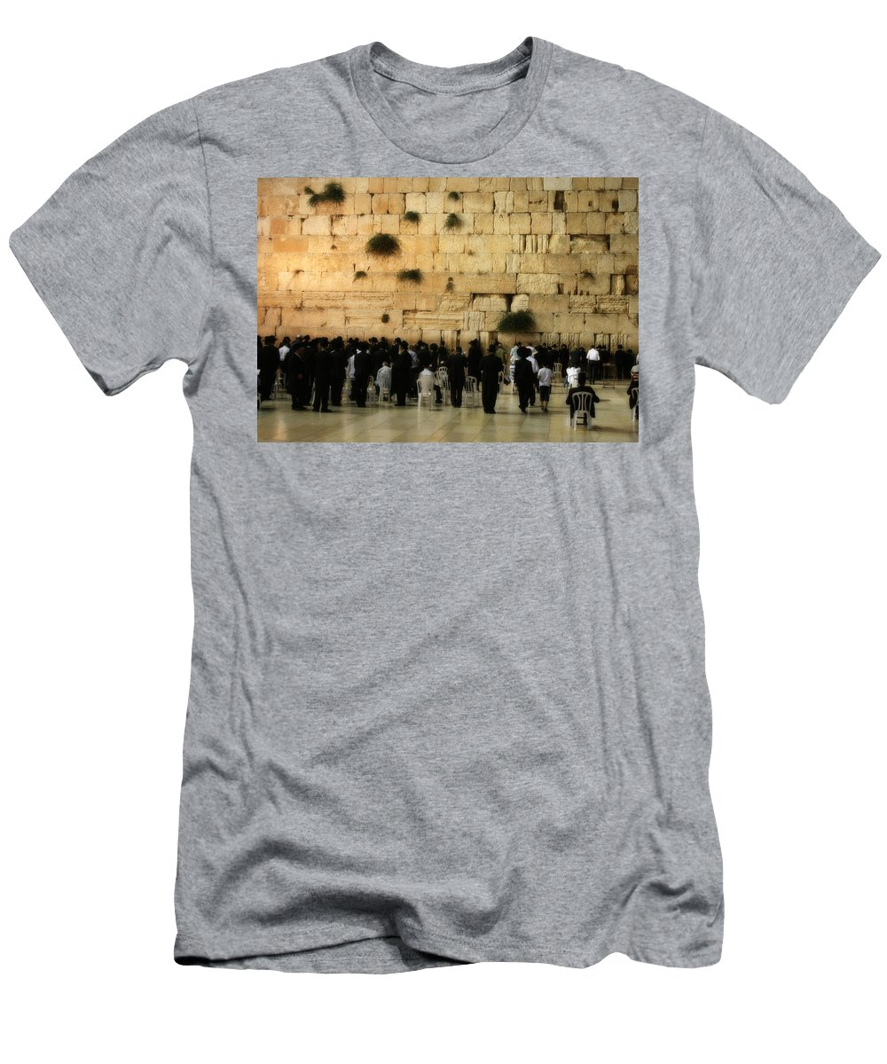 Israel Men's T-Shirt (Athletic Fit) featuring the photograph The Wailing Wall by Doc Braham