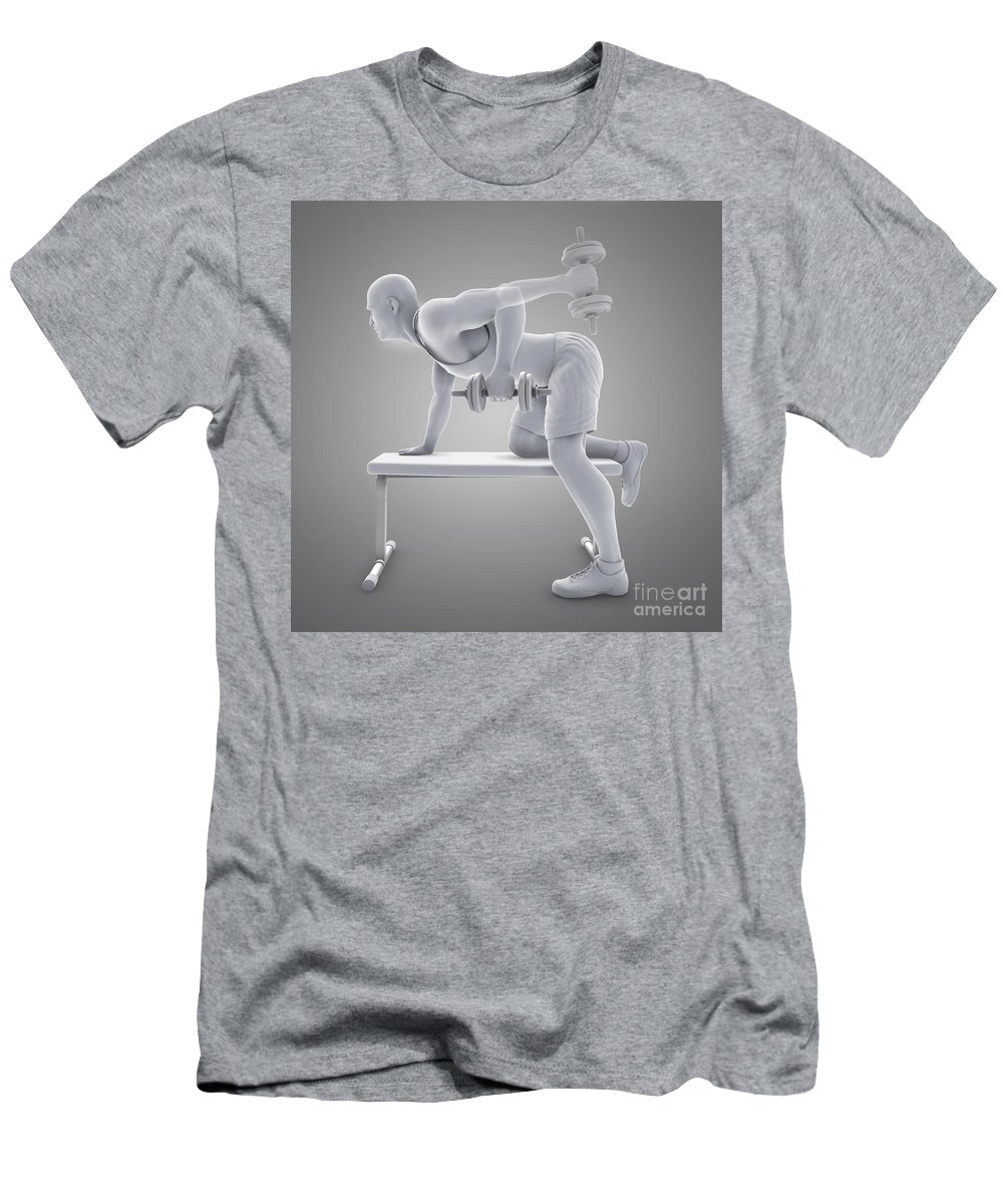 Full View Men's T-Shirt (Athletic Fit) featuring the photograph Exercise Workout by Science Picture Co