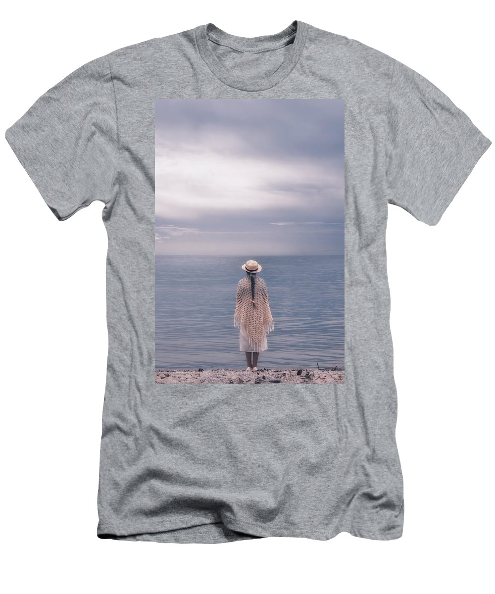 Girl Men's T-Shirt (Athletic Fit) featuring the photograph Girl At The Sea by Joana Kruse