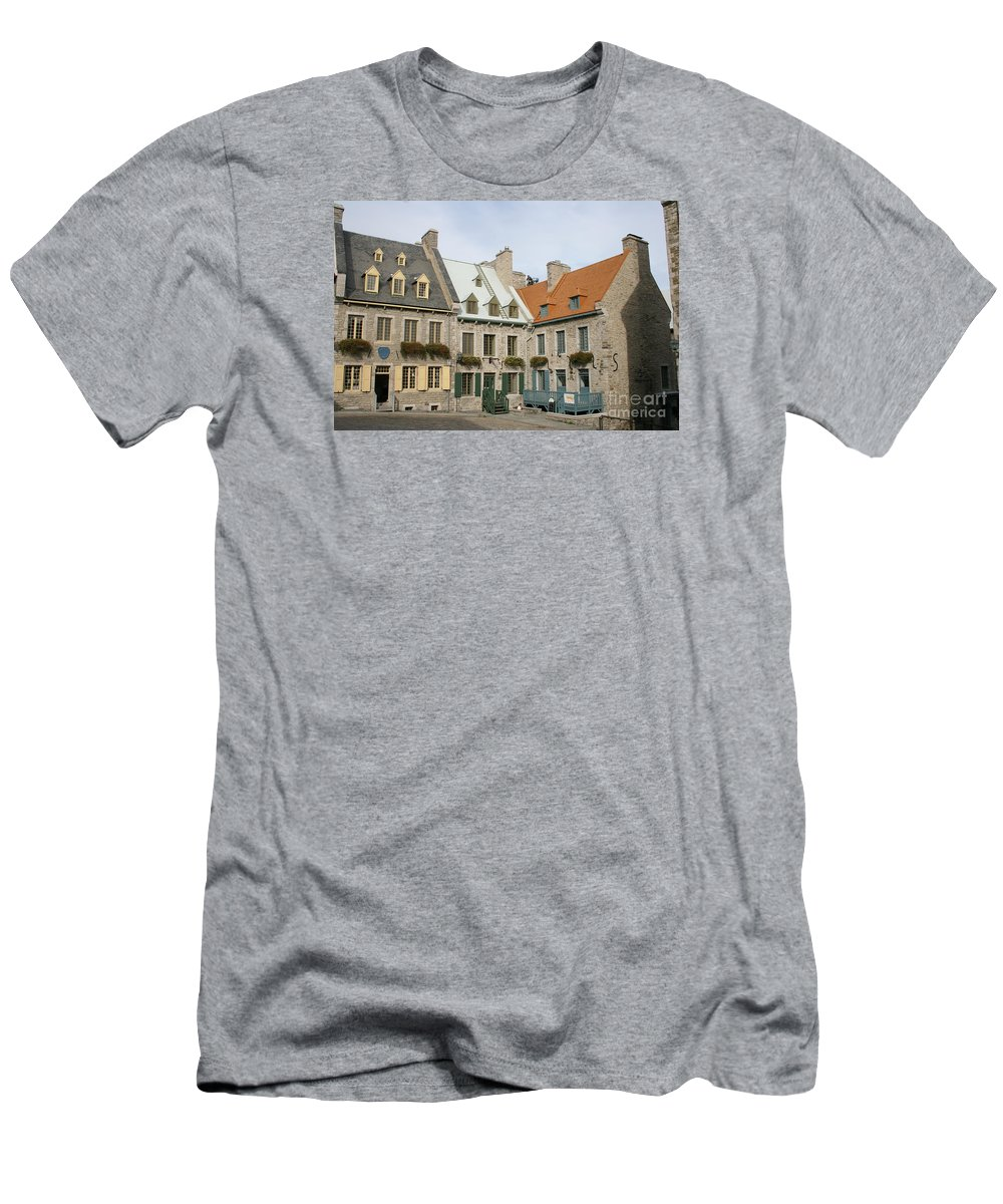 Old Town Men's T-Shirt (Athletic Fit) featuring the photograph Old Town Quebec - Canada by Christiane Schulze Art And Photography
