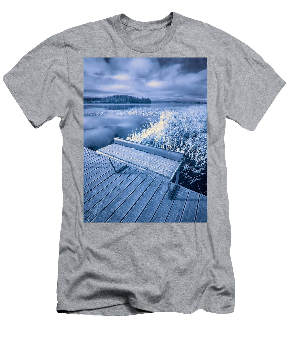 Finland Men's T-Shirt (Athletic Fit) featuring the photograph Variations Of A Dock by Jouko Lehto