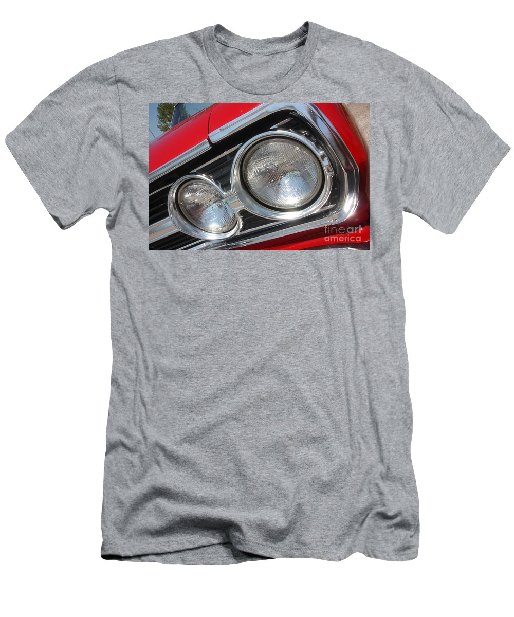 Chevrolet Men's T-Shirt (Athletic Fit) featuring the photograph 65 Malibu Ss 7802 by Gary Gingrich Galleries