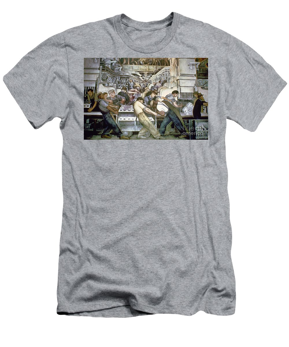 1932 Men's T-Shirt (Athletic Fit) featuring the photograph Diego Rivera - Detroit by Granger