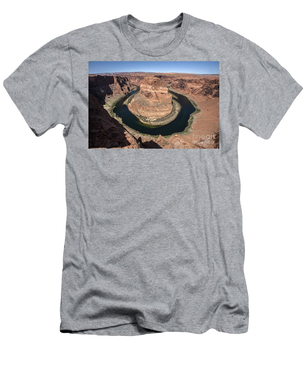 Horseshoe Bend Arizona Usa Daniel Knighton Pixel Perfect Images Men's T-Shirt (Athletic Fit) featuring the photograph Horseshoe Bend by Daniel Knighton