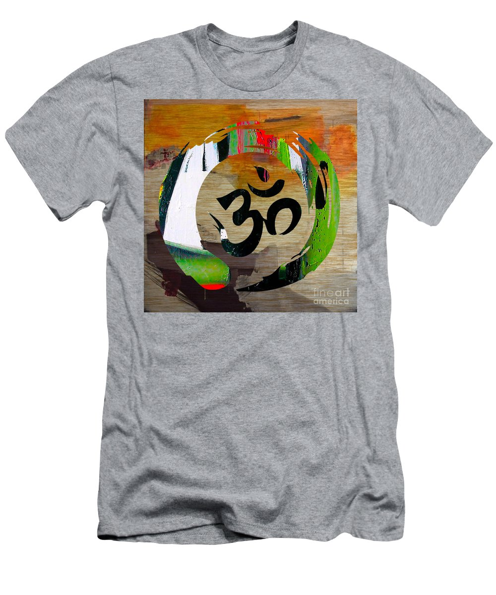 Namaste Paintings Men's T-Shirt (Athletic Fit) featuring the mixed media Stream Of Inspiration by Marvin Blaine