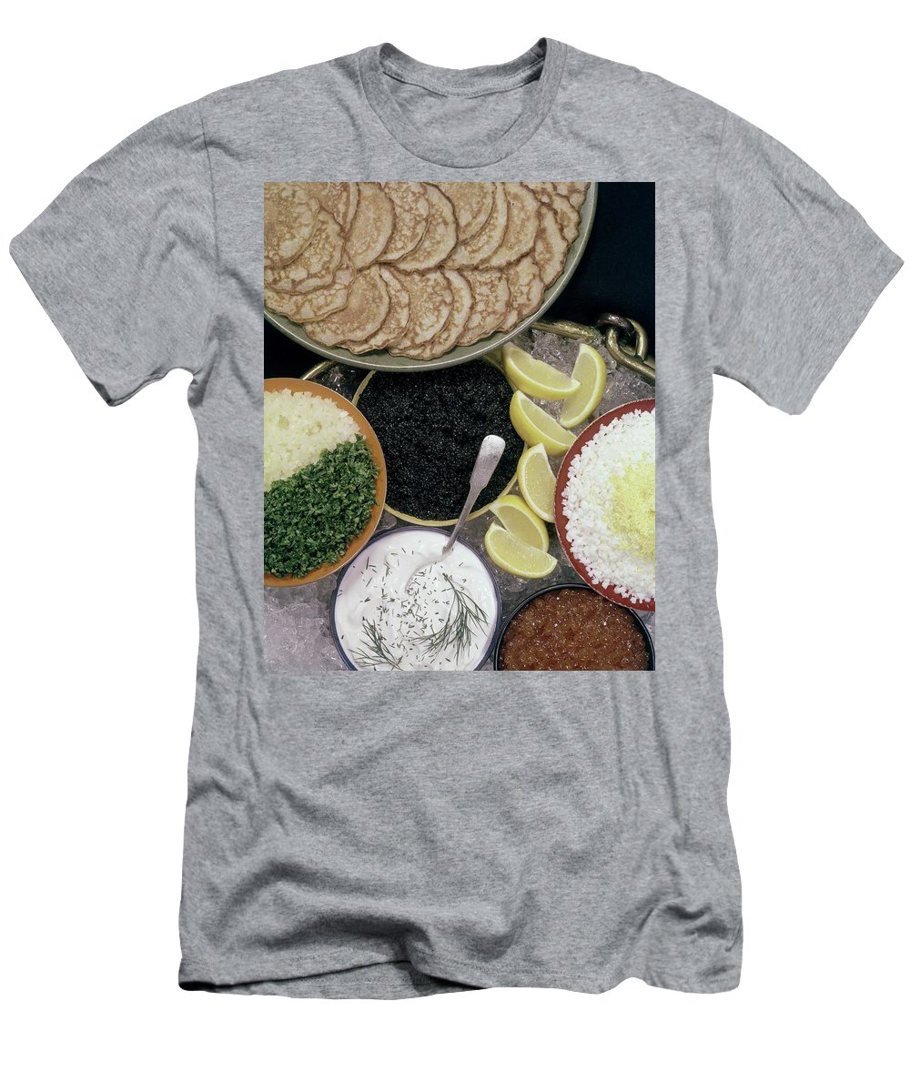 Nobody T-Shirt featuring the photograph A Buffet With Blinis by Karlson