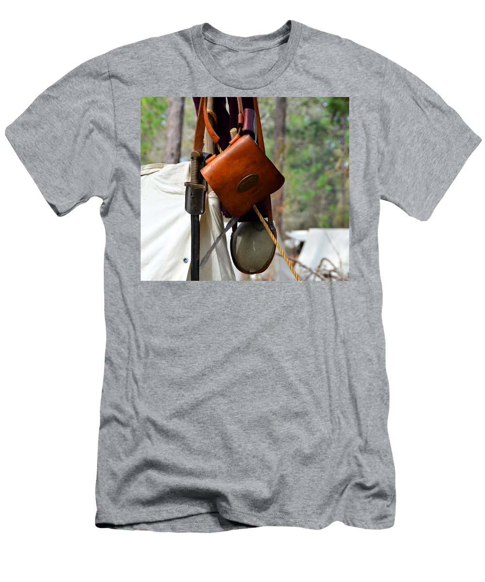 American Civil War Men's T-Shirt (Athletic Fit) featuring the photograph A Confederate Soldiers Life by David Lee Thompson