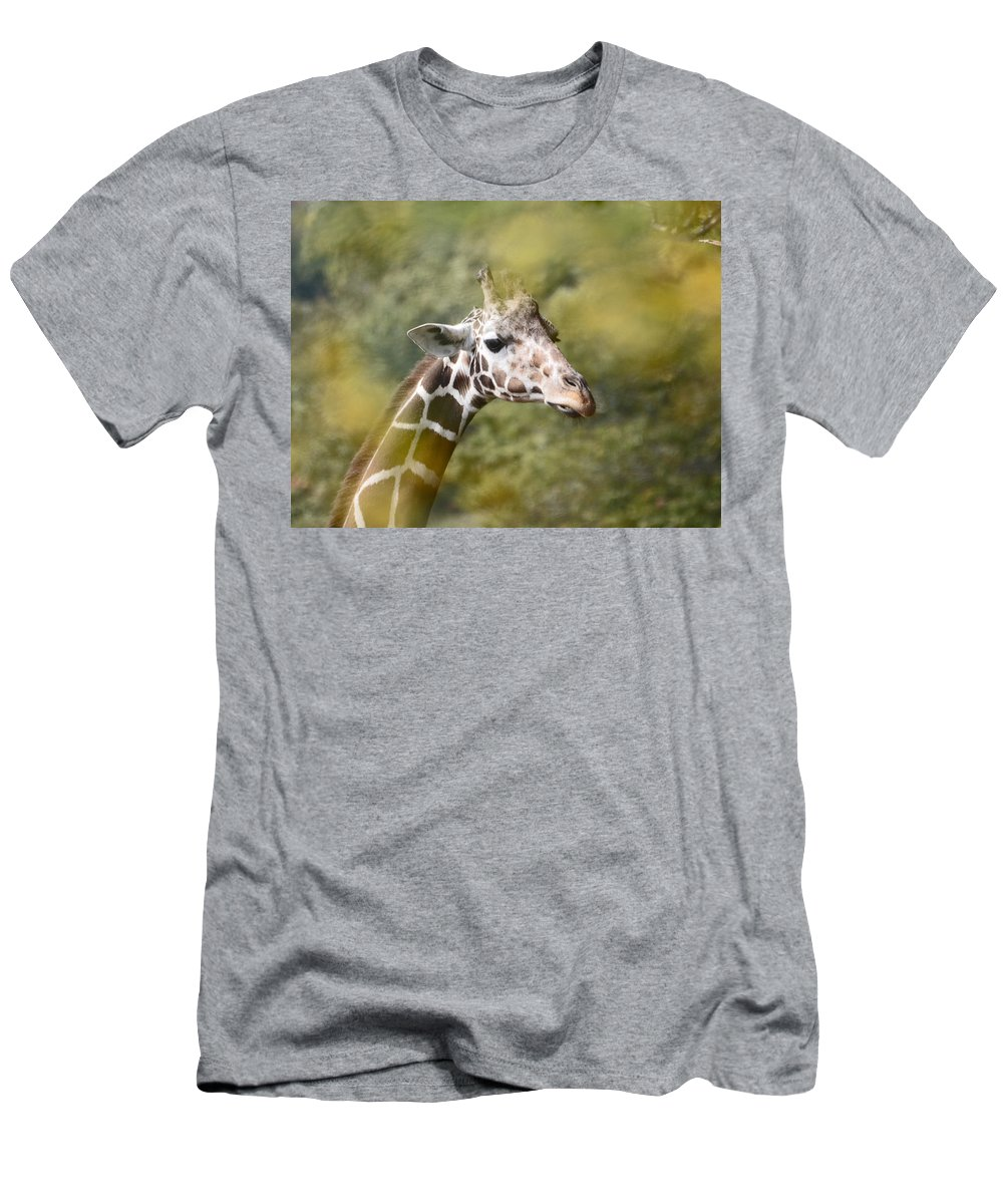 Giraffe Men's T-Shirt (Athletic Fit) featuring the photograph A Gentle Giant by Lori Tambakis