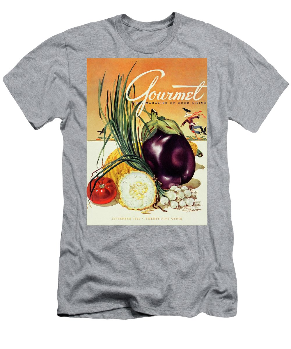 Food Men's T-Shirt (Athletic Fit) featuring the photograph A Gourmet Cover Of Vegetables by Henry Stahlhut