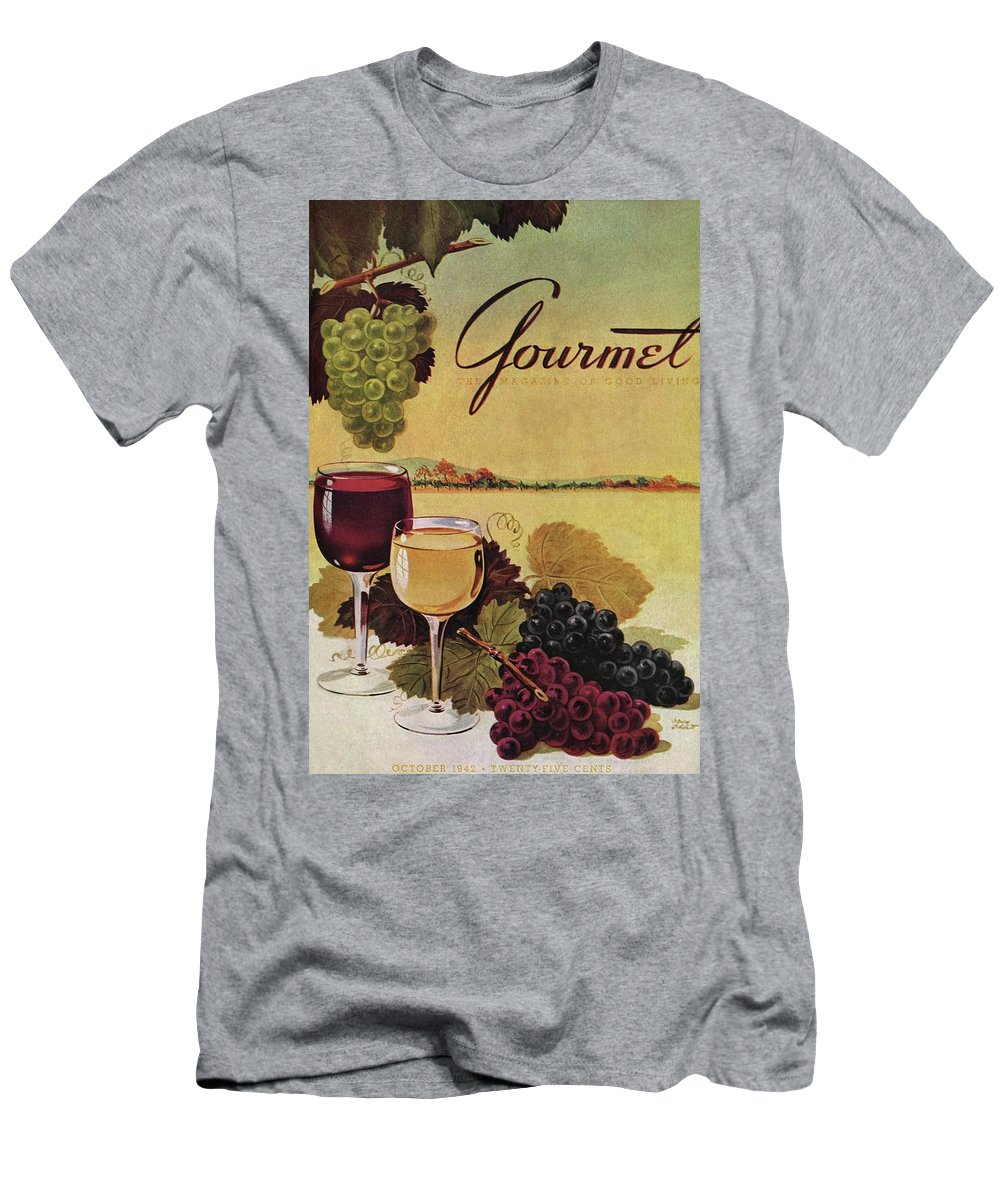 Exterior Men's T-Shirt (Athletic Fit) featuring the photograph A Gourmet Cover Of Wine by Henry Stahlhut