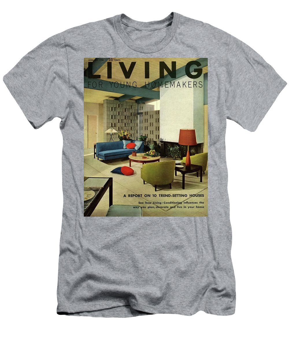 Furniture T-Shirt featuring the digital art A Living Room With Carpeting By Callaway by George De Gennaro