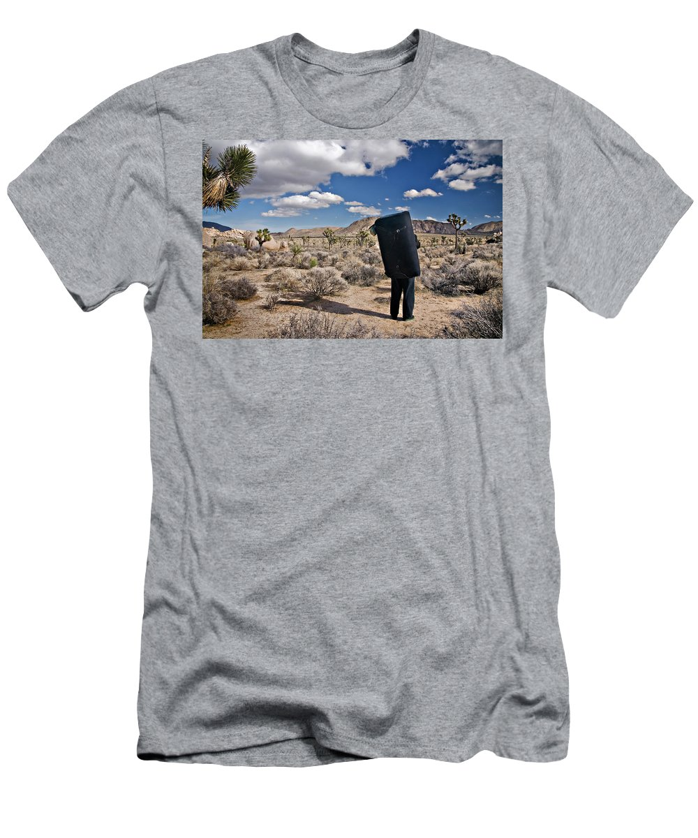 Adult Men's T-Shirt (Athletic Fit) featuring the photograph A Man Looks Into The Distance by R. Tyler Gross