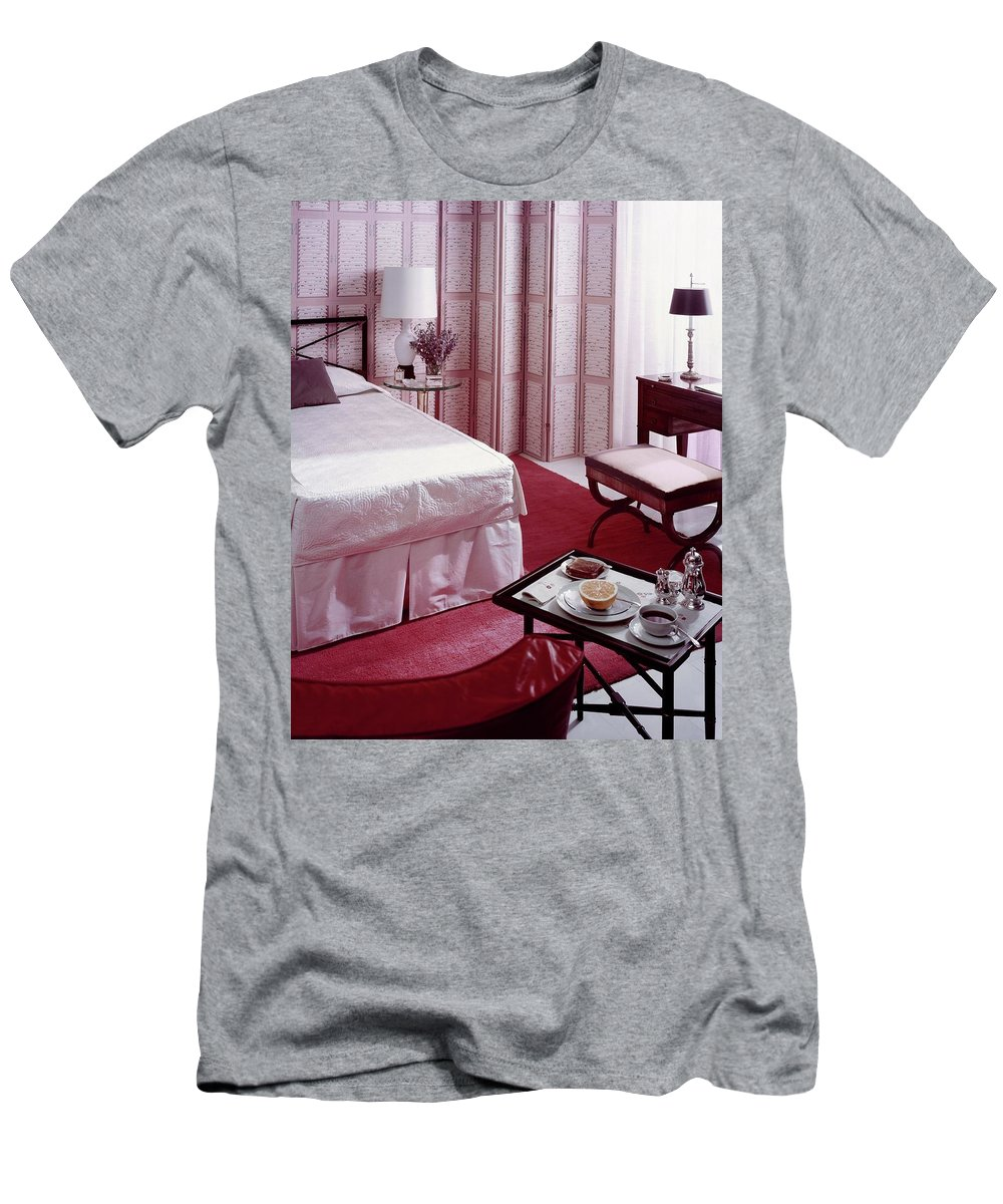 Murals Inc. T-Shirt featuring the photograph A Pink Bedroom by Haanel Cassidy