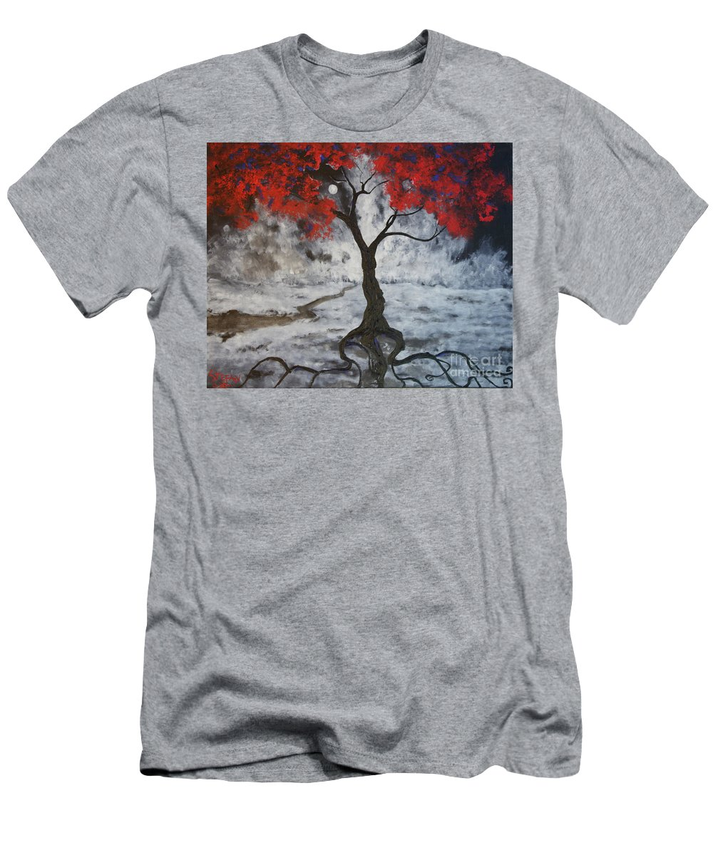 Impressionism Men's T-Shirt (Athletic Fit) featuring the painting A Walk In The Twilight by Stefan Duncan