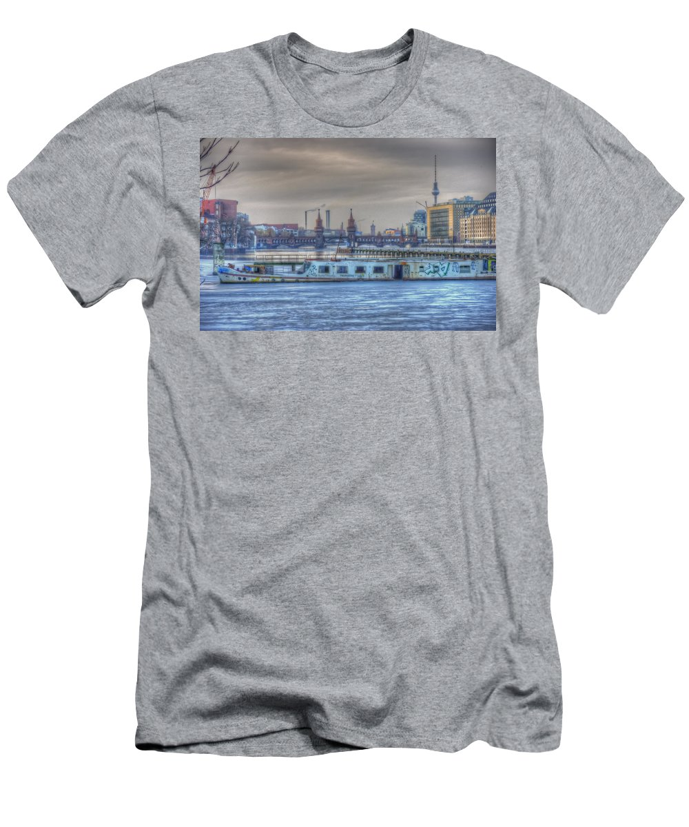 Architecture Digital Art Men's T-Shirt (Athletic Fit) featuring the digital art Abandon Ship by Nathan Wright
