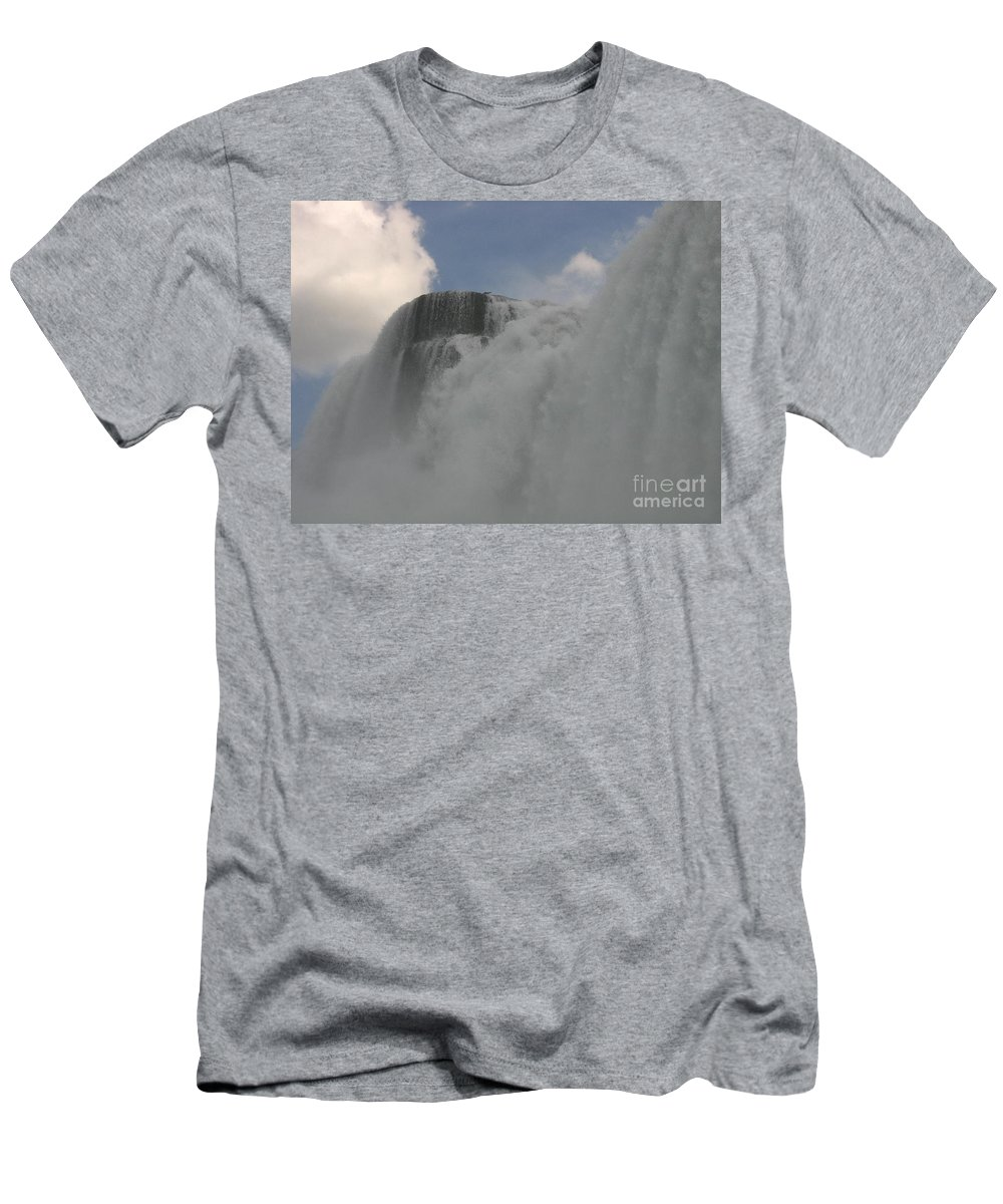 Waterfalls Men's T-Shirt (Athletic Fit) featuring the photograph About To Get Wet by Jeffery L Bowers