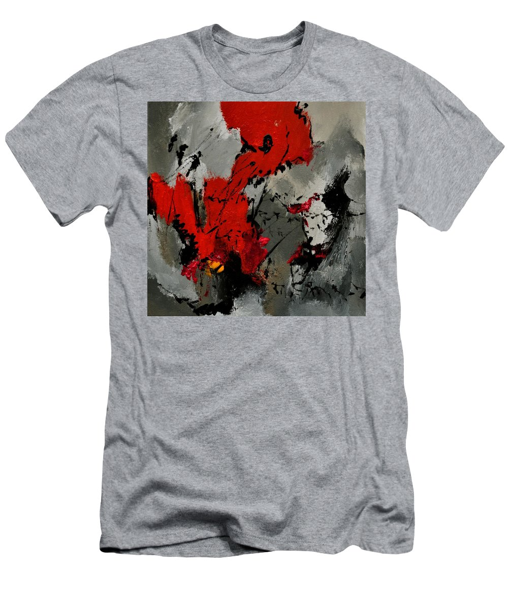 Abstract Men's T-Shirt (Athletic Fit) featuring the painting Abstract 3341202 by Pol Ledent