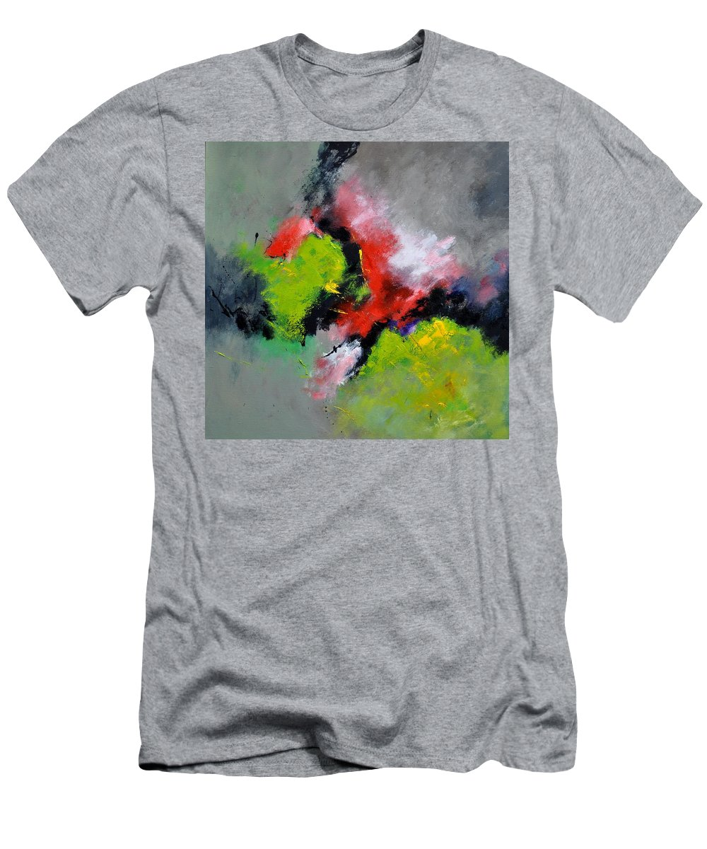 Abstract Men's T-Shirt (Athletic Fit) featuring the painting Abstract 6631201 by Pol Ledent