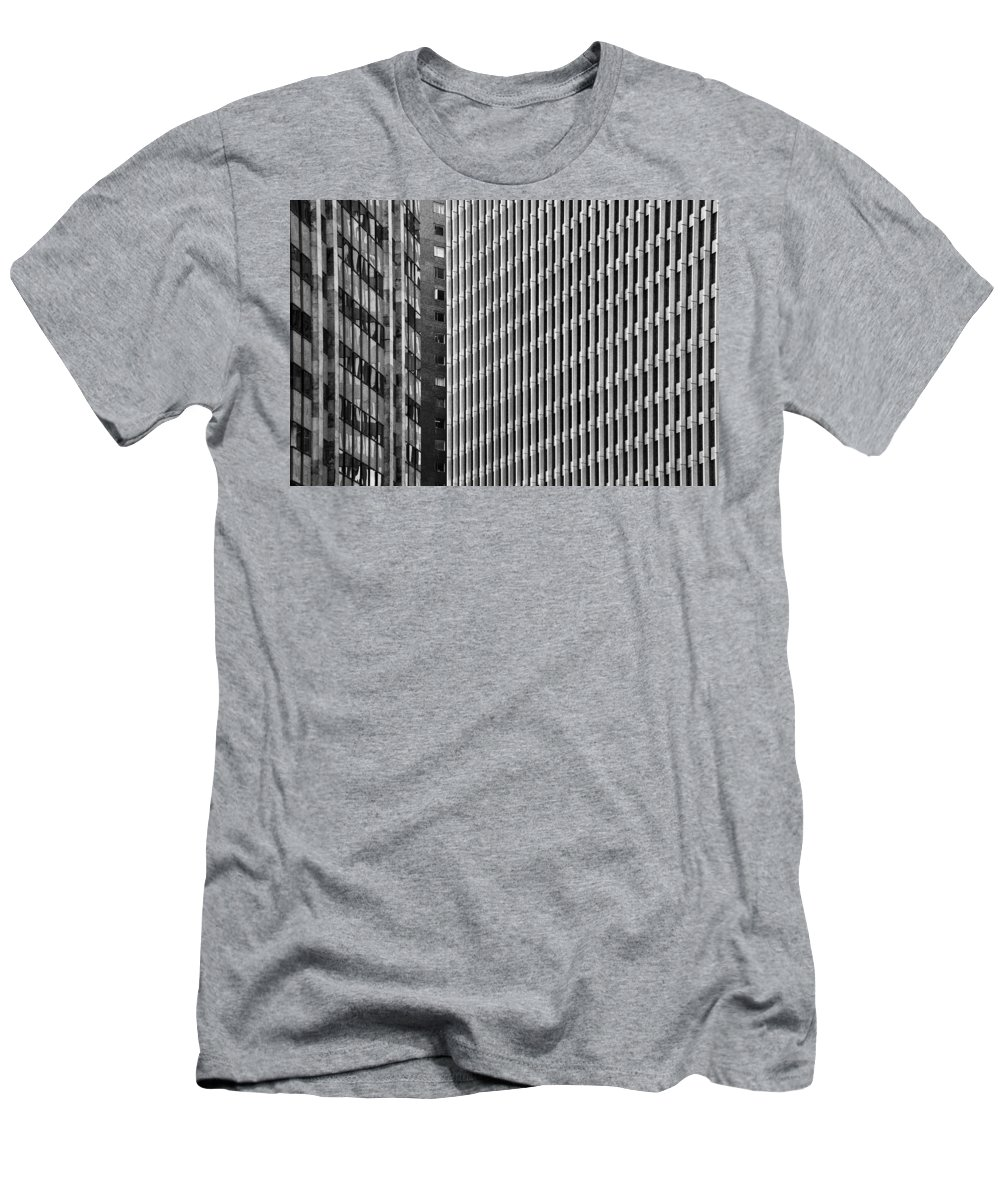 Black Men's T-Shirt (Athletic Fit) featuring the photograph Abstract Buildings by Jess Kraft