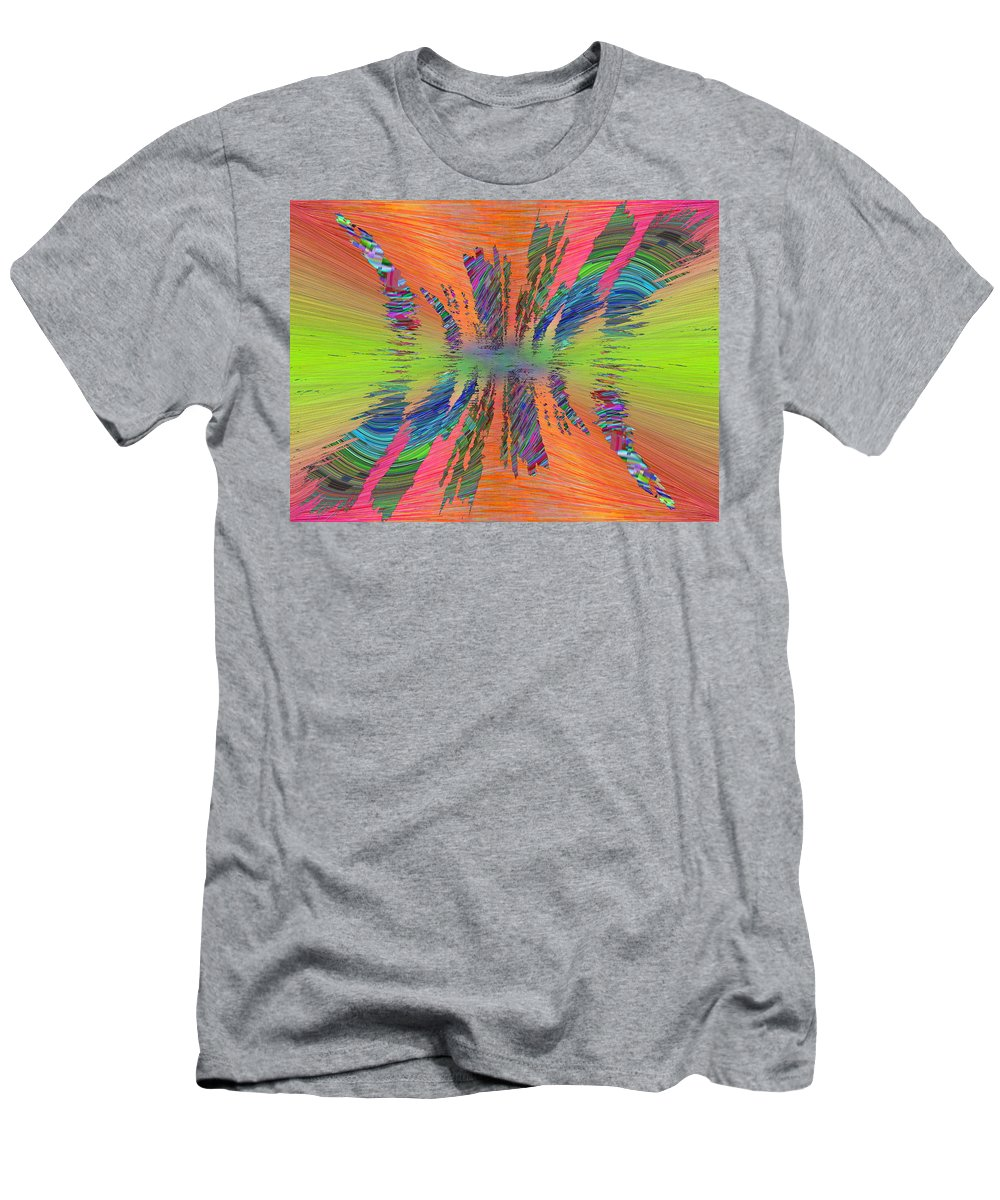 Abstract Men's T-Shirt (Athletic Fit) featuring the digital art Abstract Cubed 168 by Tim Allen