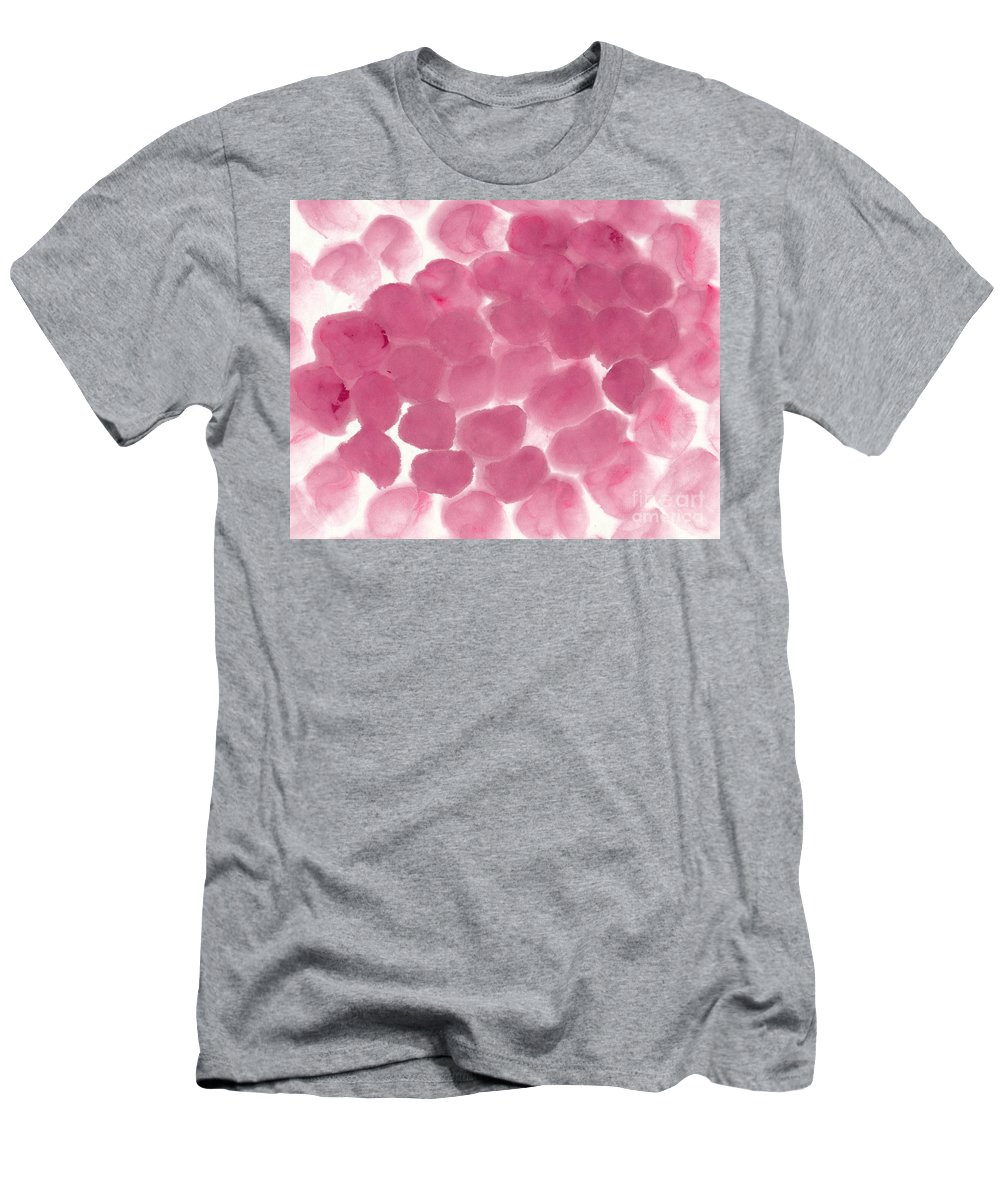 Pink Men's T-Shirt (Athletic Fit) featuring the painting Abstract Pink Dots by Kerstin Ivarsson