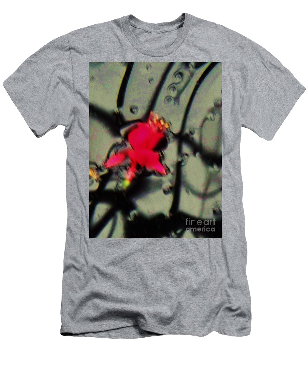 Abstract Men's T-Shirt (Athletic Fit) featuring the photograph Abstract Red And Black by Eric Schiabor