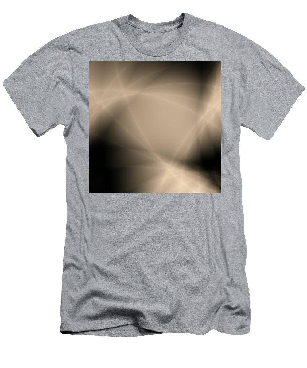 Abstract Men's T-Shirt (Athletic Fit) featuring the digital art Abstract Storm Light by Roman Aj