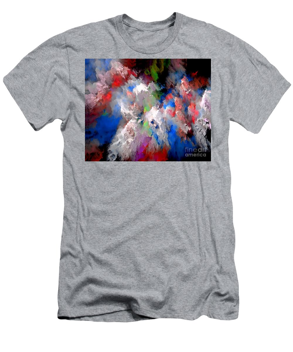 Graphics Men's T-Shirt (Athletic Fit) featuring the digital art Abstraction 0392 Marucii by Marek Lutek
