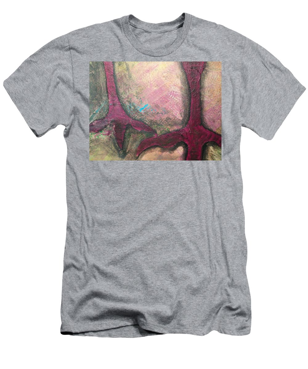 Crow Men's T-Shirt (Athletic Fit) featuring the painting Abstracty Crows Feet Crop by Laurette Escobar