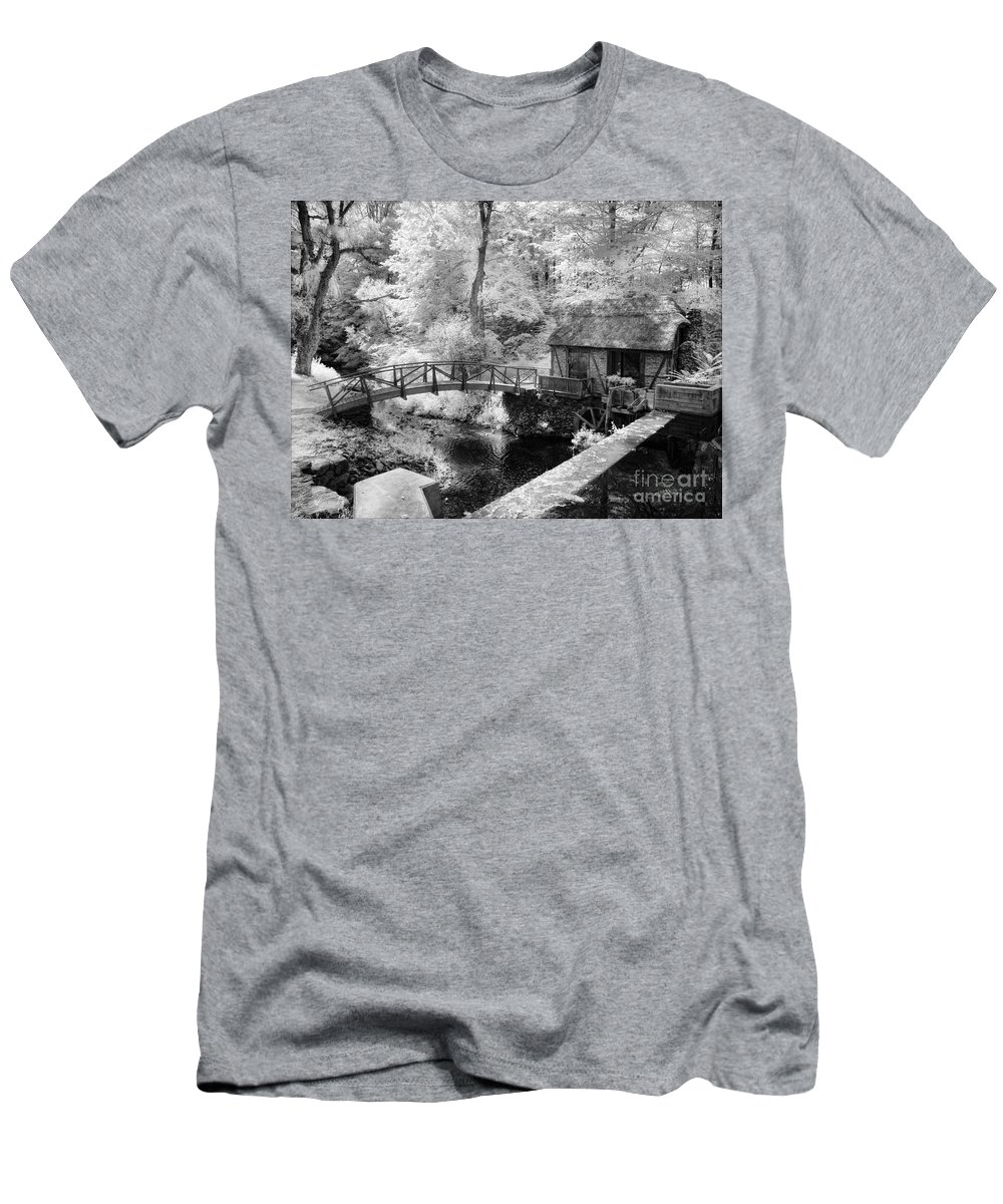 Mill Men's T-Shirt (Athletic Fit) featuring the photograph Across The Stream by Claudia Kuhn