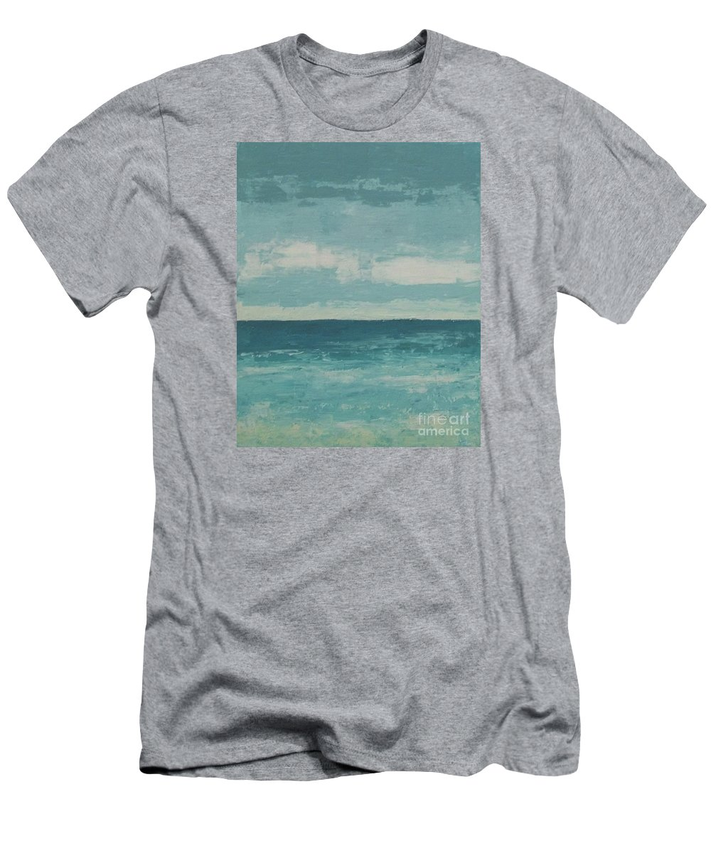Landscapes Men's T-Shirt (Athletic Fit) featuring the painting After The Rain by Gail Kent