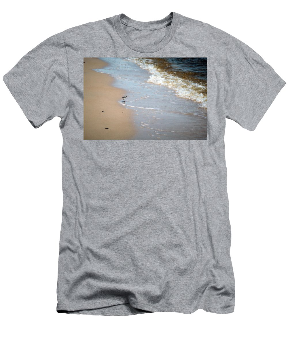 Long Beach Men's T-Shirt (Athletic Fit) featuring the photograph Afternoon Stroll by Sennie Pierson