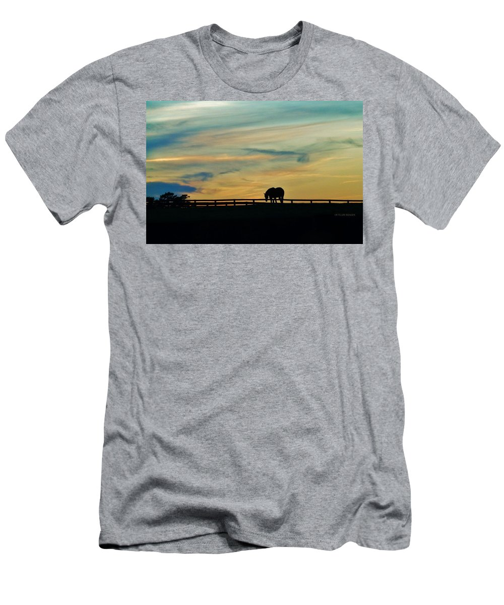 Landscape Men's T-Shirt (Athletic Fit) featuring the photograph Against A Painted Sky by Holly Dwyer
