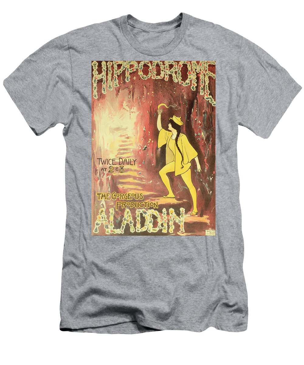 Aladdin Men's T-Shirt (Athletic Fit) featuring the painting Aladdin by English School