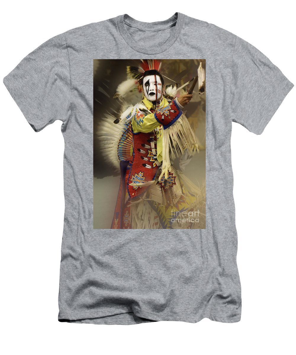 Pow Wow Men's T-Shirt (Athletic Fit) featuring the photograph Pow Wow All About Time by Bob Christopher