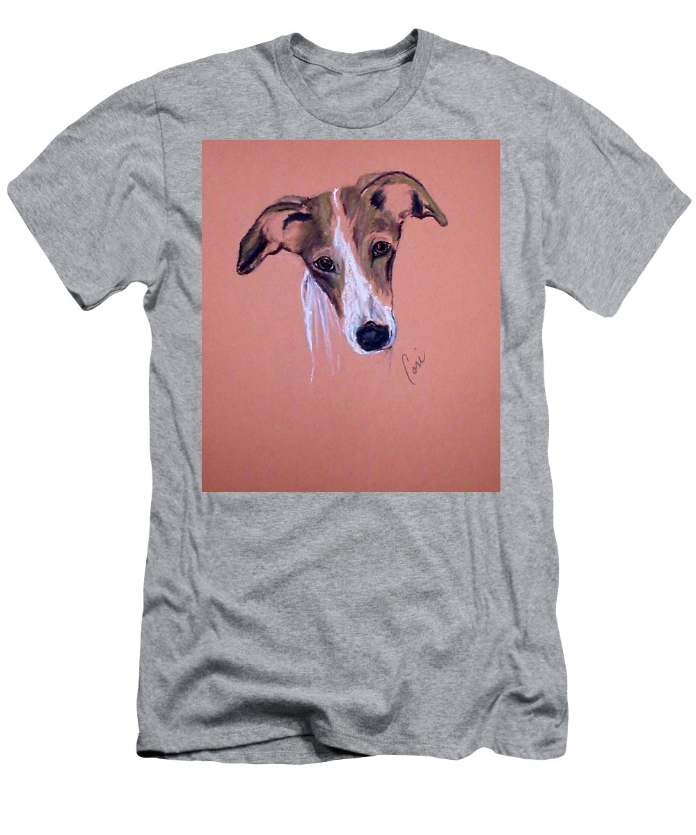 Whippet Men's T-Shirt (Athletic Fit) featuring the drawing All Ears by Cori Solomon