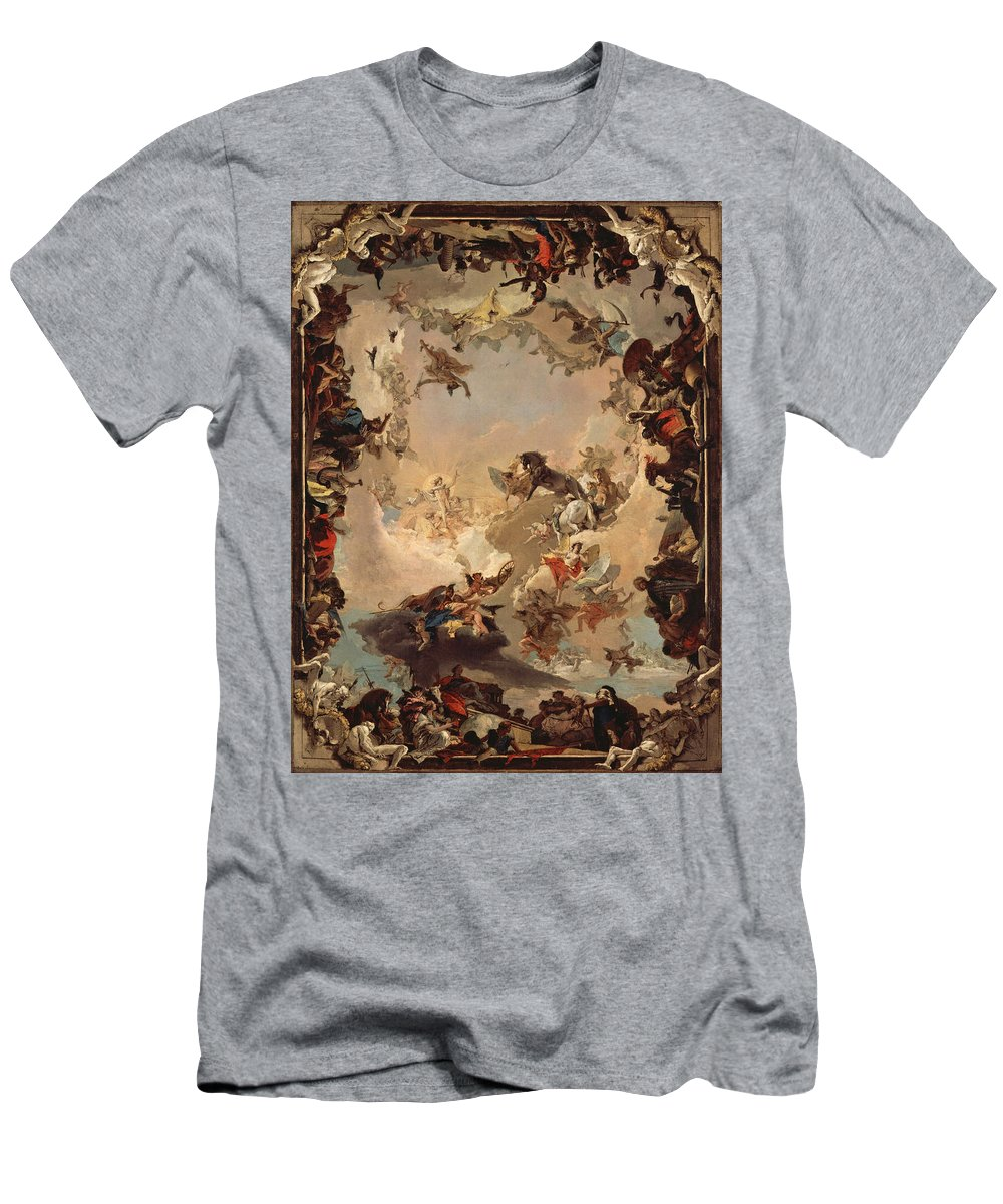 Giovanni Battista Tiepolo Men's T-Shirt (Athletic Fit) featuring the painting Allegory Of The Planets And Continents by Giovanni Battista Tiepolo