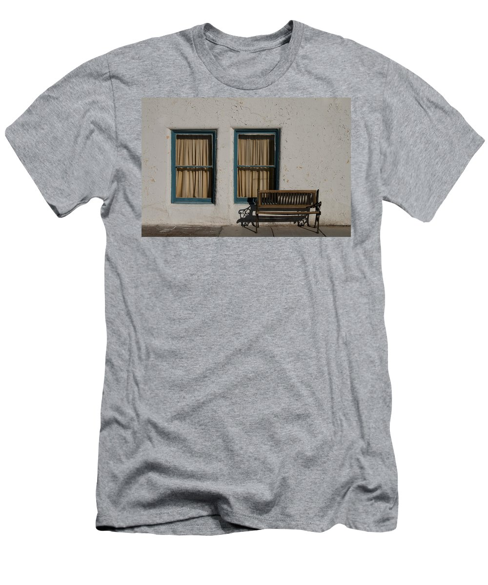 Amargosa Men's T-Shirt (Athletic Fit) featuring the photograph Amargosa Opera House Death Valley Img 0017 by Greg Kluempers