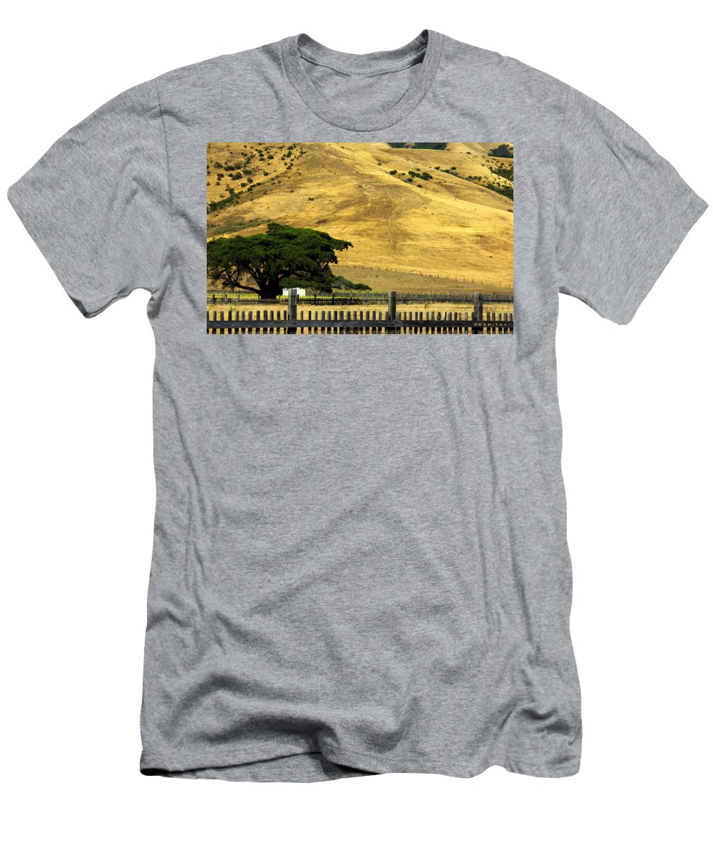 An Optical Illusion Men's T-Shirt (Athletic Fit) featuring the photograph An Optical Illusion by Ed Smith