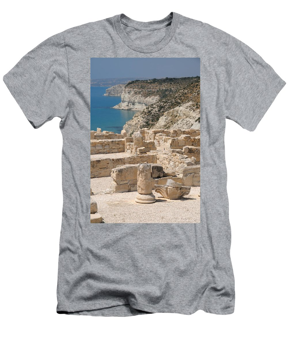 Cyprus Men's T-Shirt (Athletic Fit) featuring the photograph Ancient Curium 2 by Jeremy Voisey