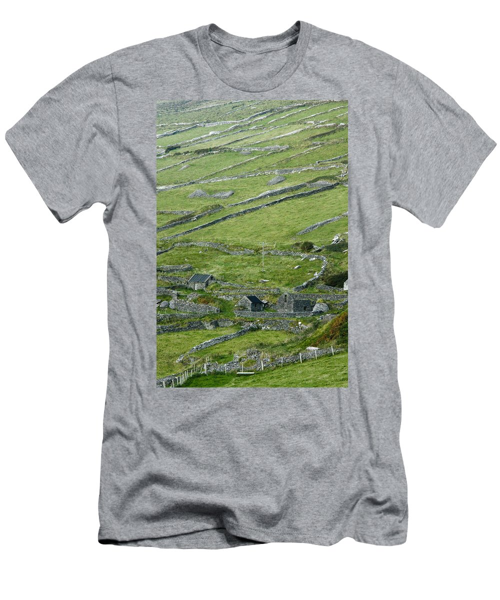 Ireland Men's T-Shirt (Athletic Fit) featuring the photograph Ancient Ireland by Sharon M Connolly