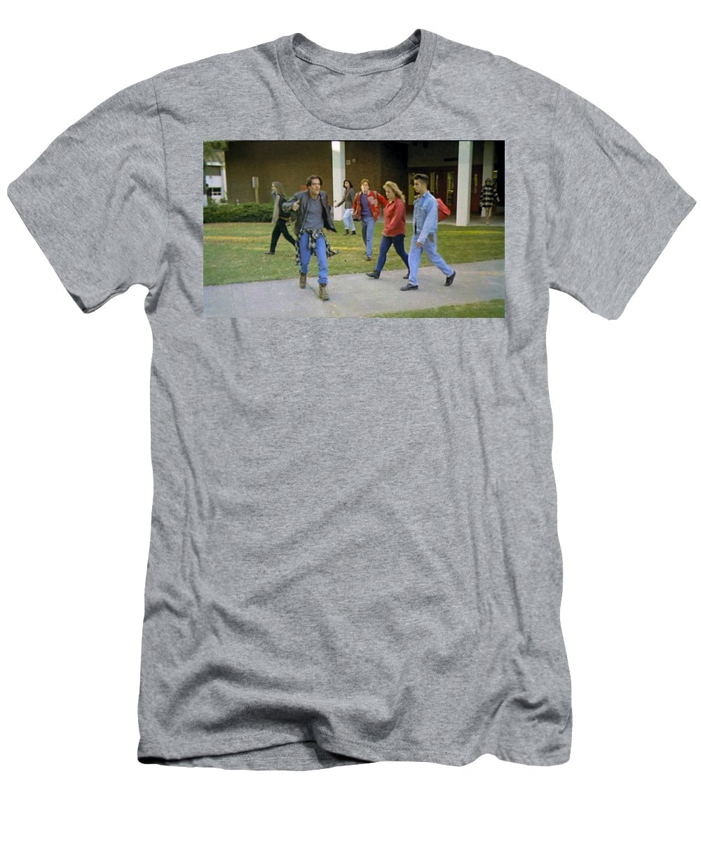 Laura Palmer Men's T-Shirt (Athletic Fit) featuring the painting And I Looked Down At My Shoes by Luis Ludzska