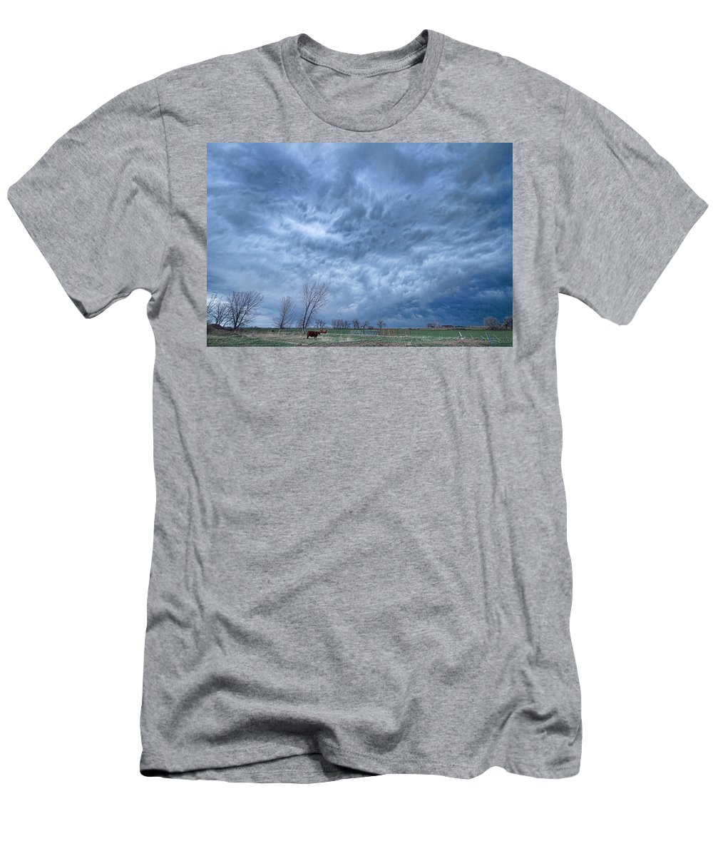 Storms Men's T-Shirt (Athletic Fit) featuring the photograph Angry Skies by James BO Insogna
